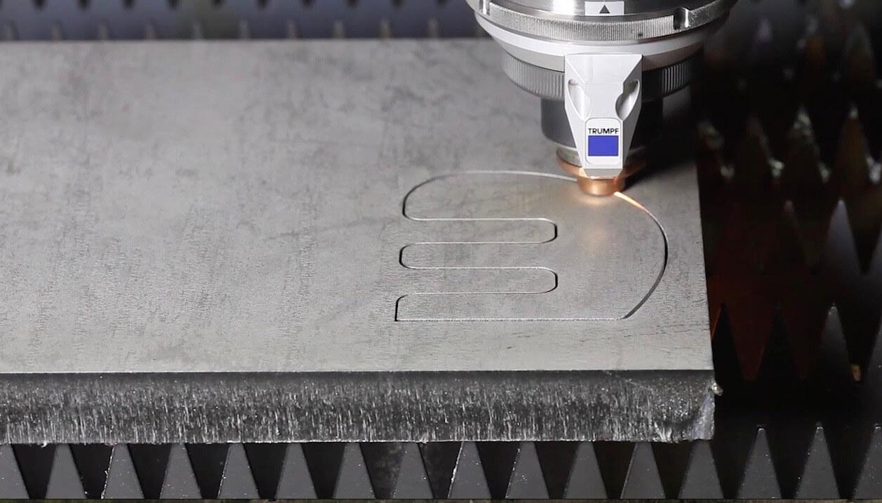 custom steel cutting using TRUMPF 5030 12kW fiber