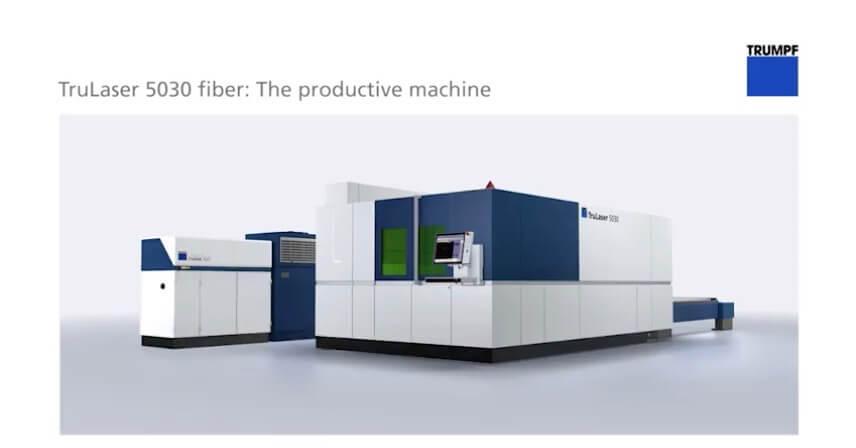TRUMPF 5030 12kW laser fiber